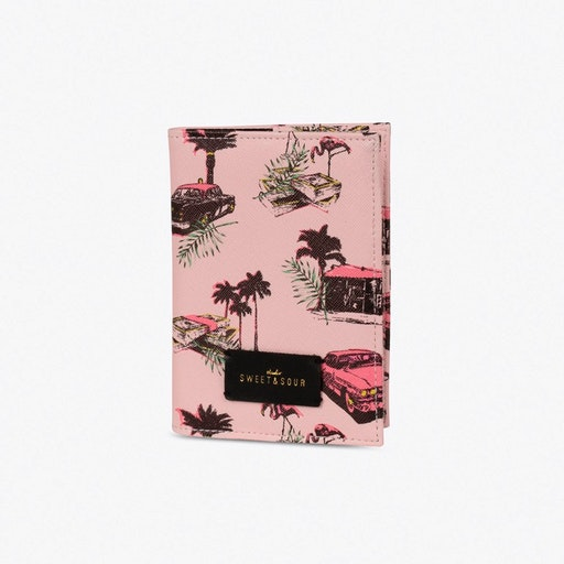 Pink Cadillac Passport Holder