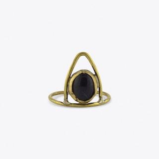 Amethyst Geo Ring