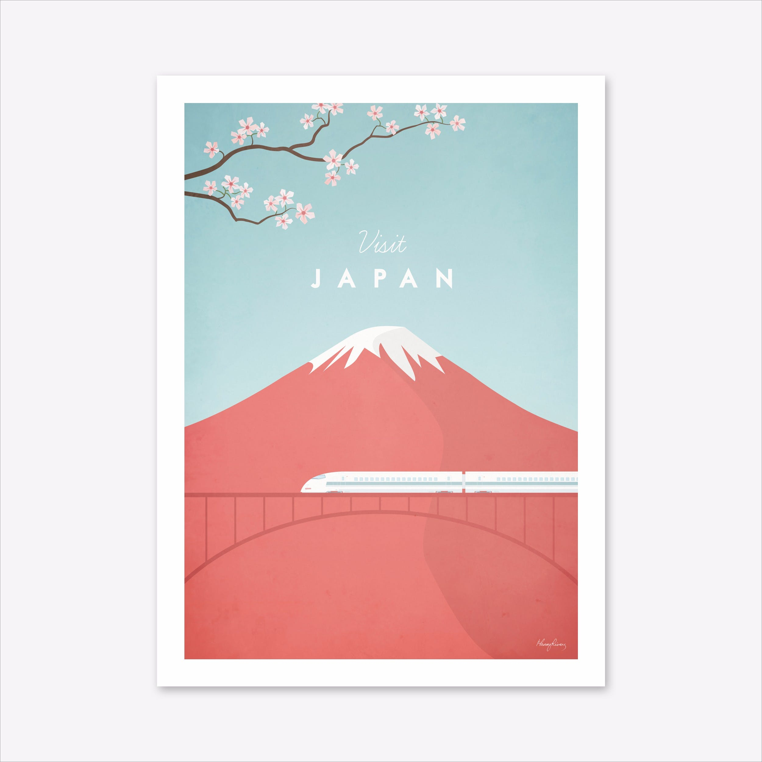 Visit japan art print by travel poster co fy