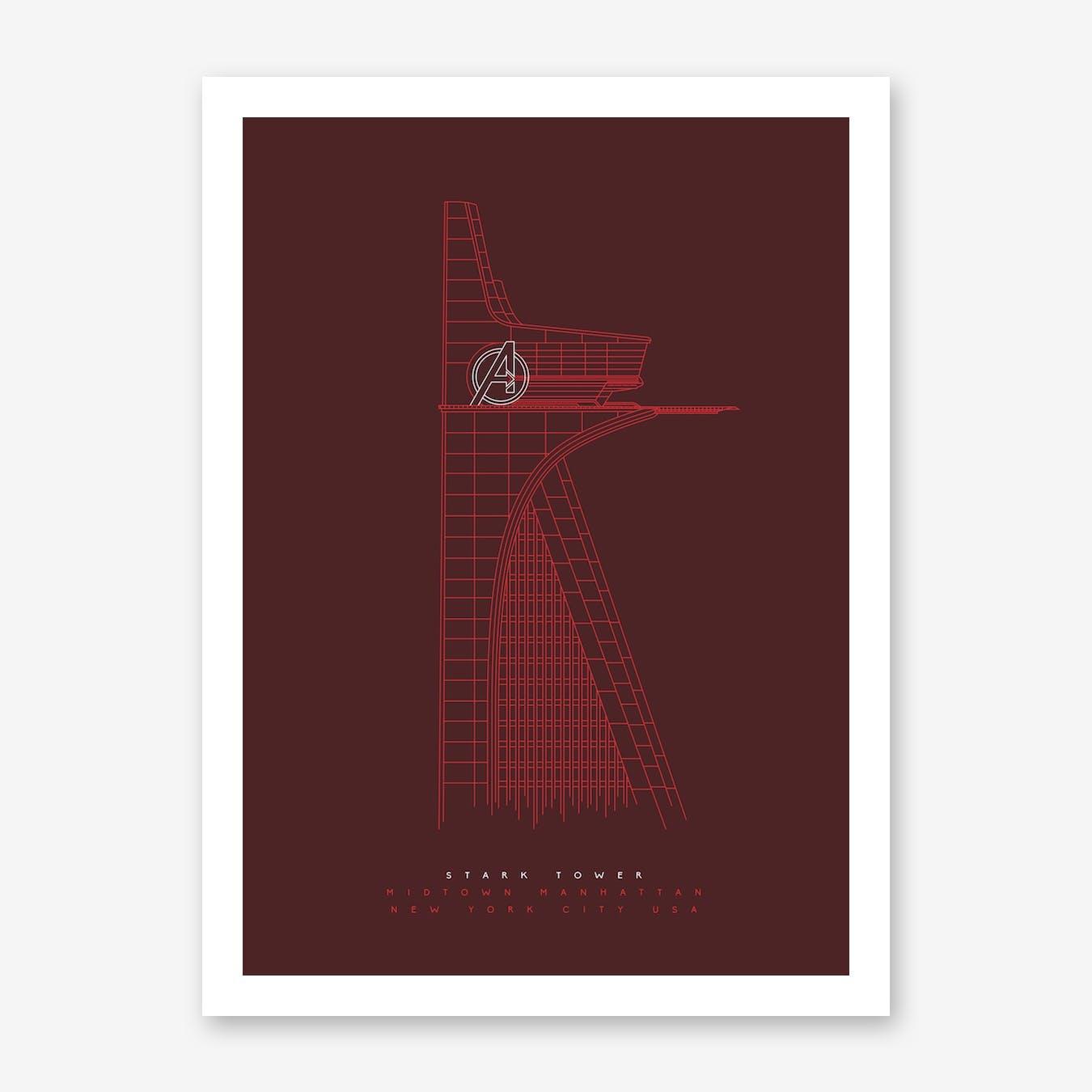 Stark Tower Art Print