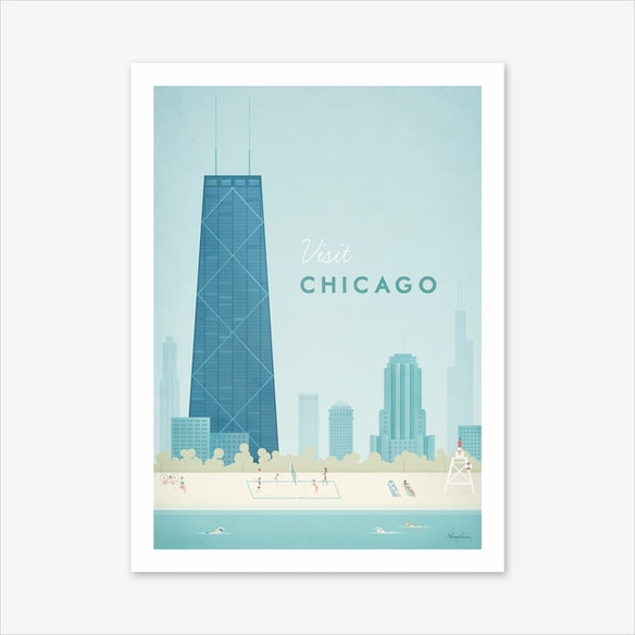 a33a85b1be2 Visit Chicago Art Print by Travel Poster Co.