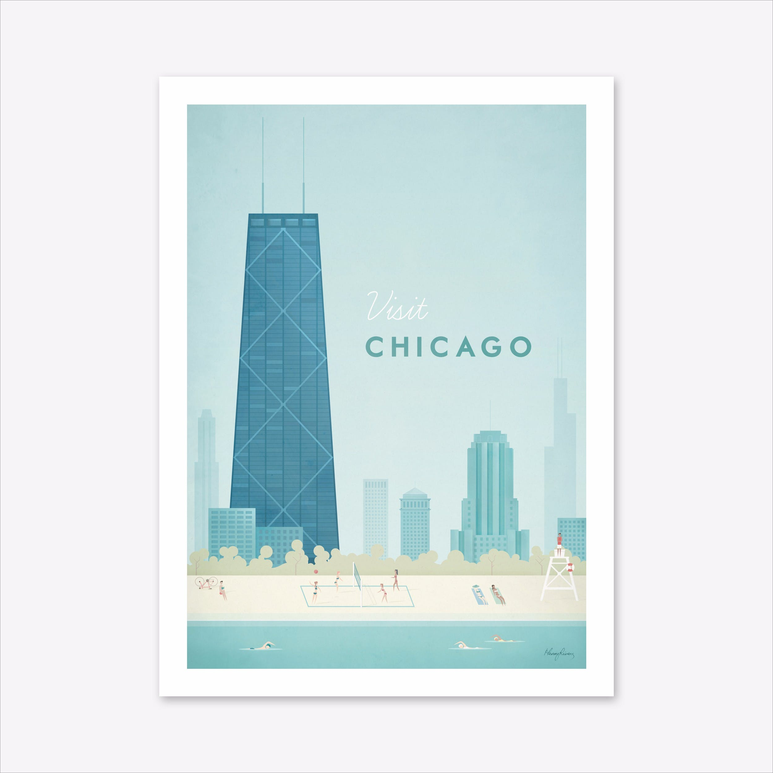 Visit Chicago Art Print