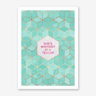 She's Whiskey In A Teacup Art Print