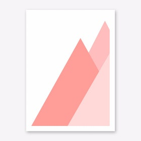 Pink Mountain Art Print