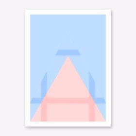 Pink Mountain IV Art Print