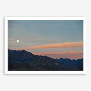 Full Moon Over Death Valley Art Print