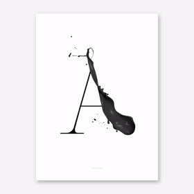 ABC Artsy 2 Art Print