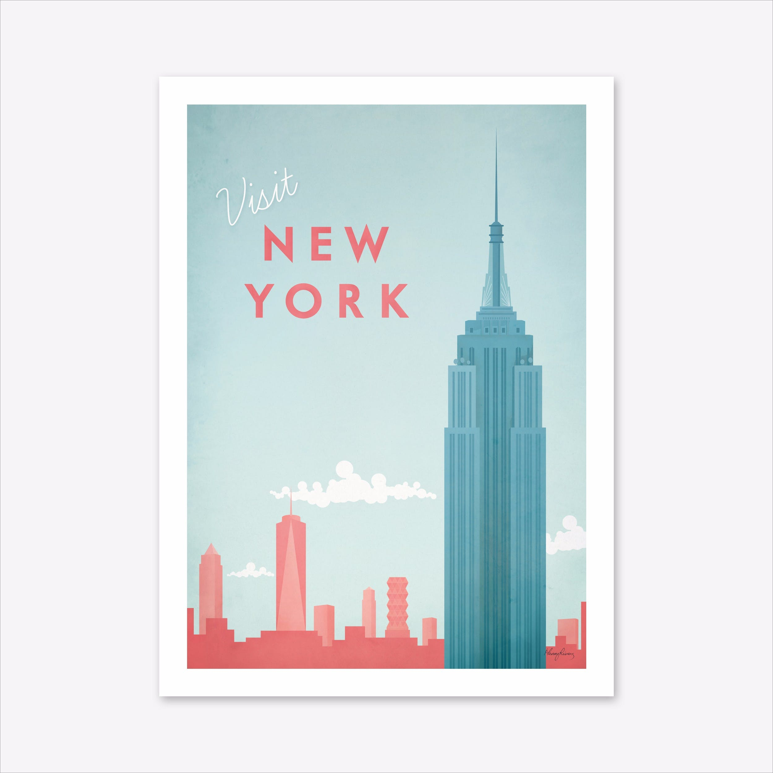 Visit new york art print by travel poster co fy
