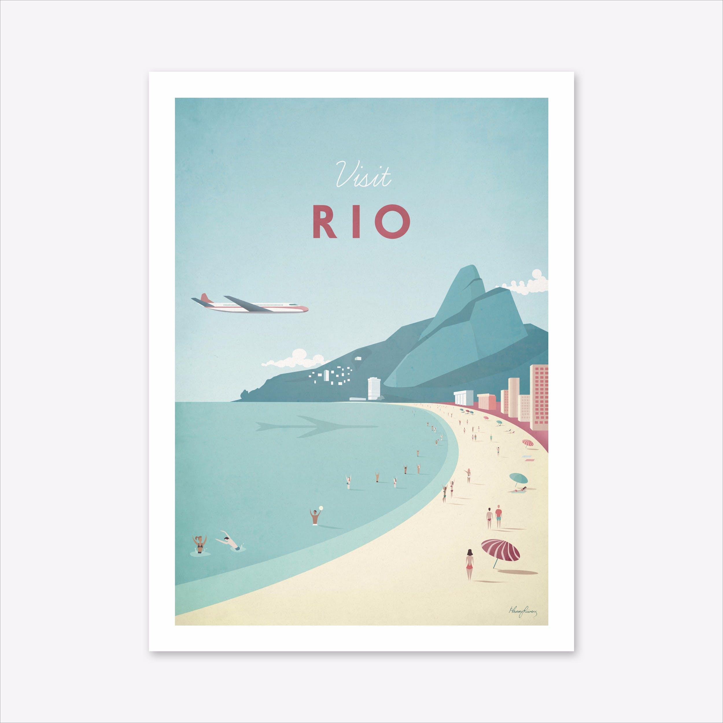 Visit Rio Art Print
