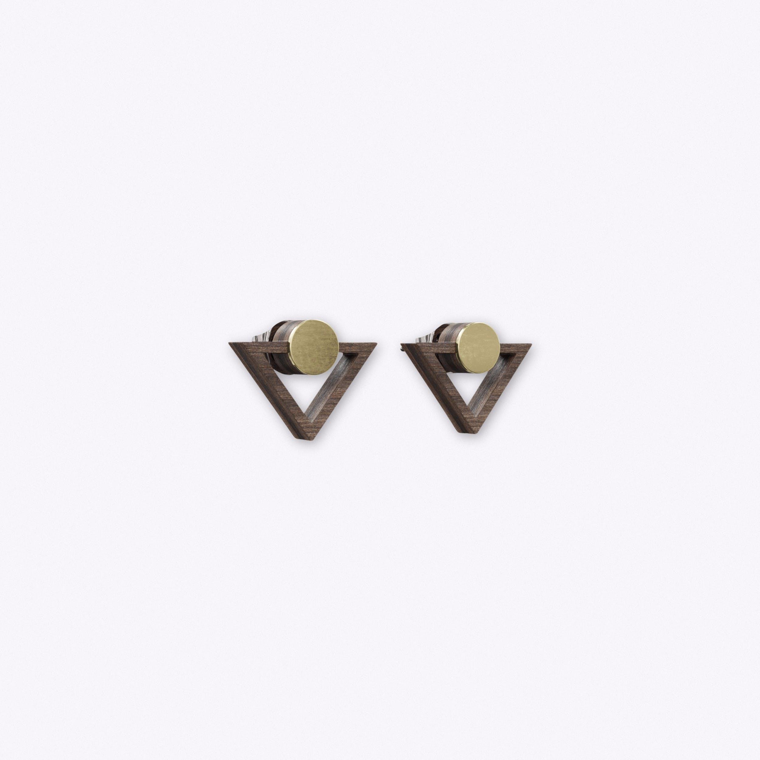 Imperfektum Earrings in dark wood