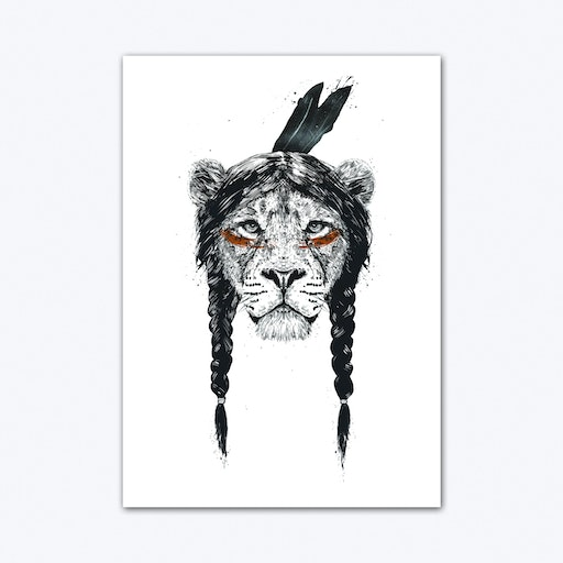 Warrior Lion Art Print