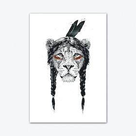 Warrior Lion Art Print