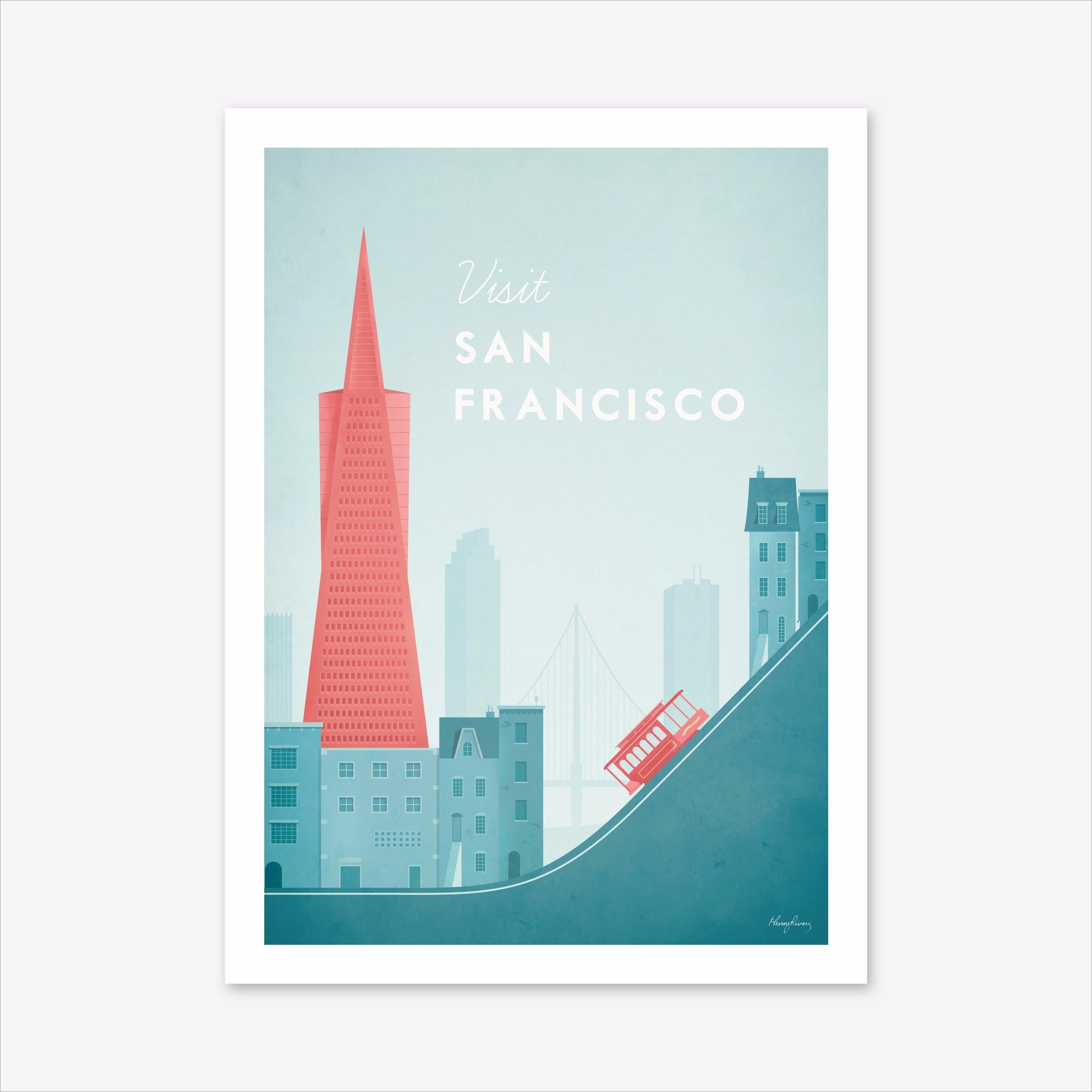 Visit San Francisco Art Print