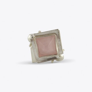 Poison Box Ring with Rose Quartz
