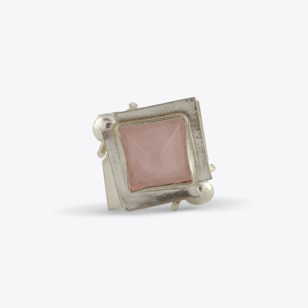 Poison Box Ring with Rose Quartz