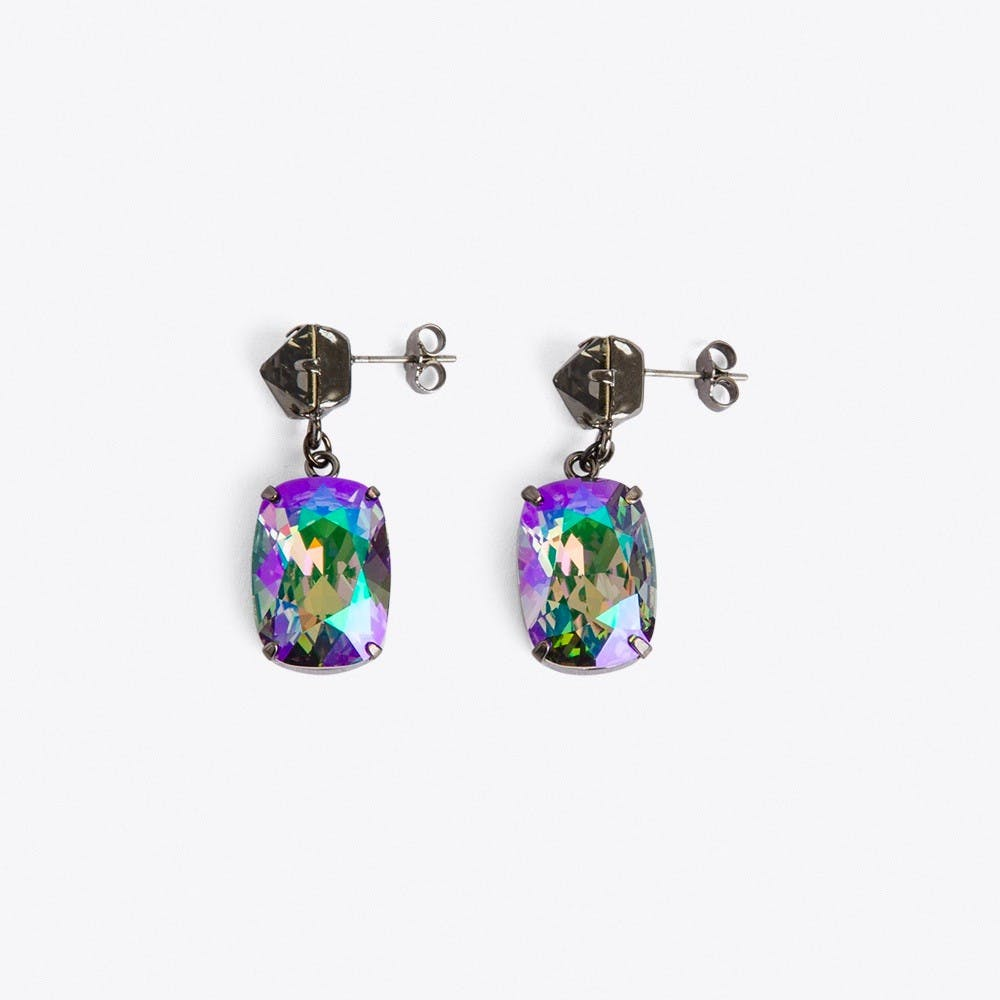 Stone Earrings in Petrol