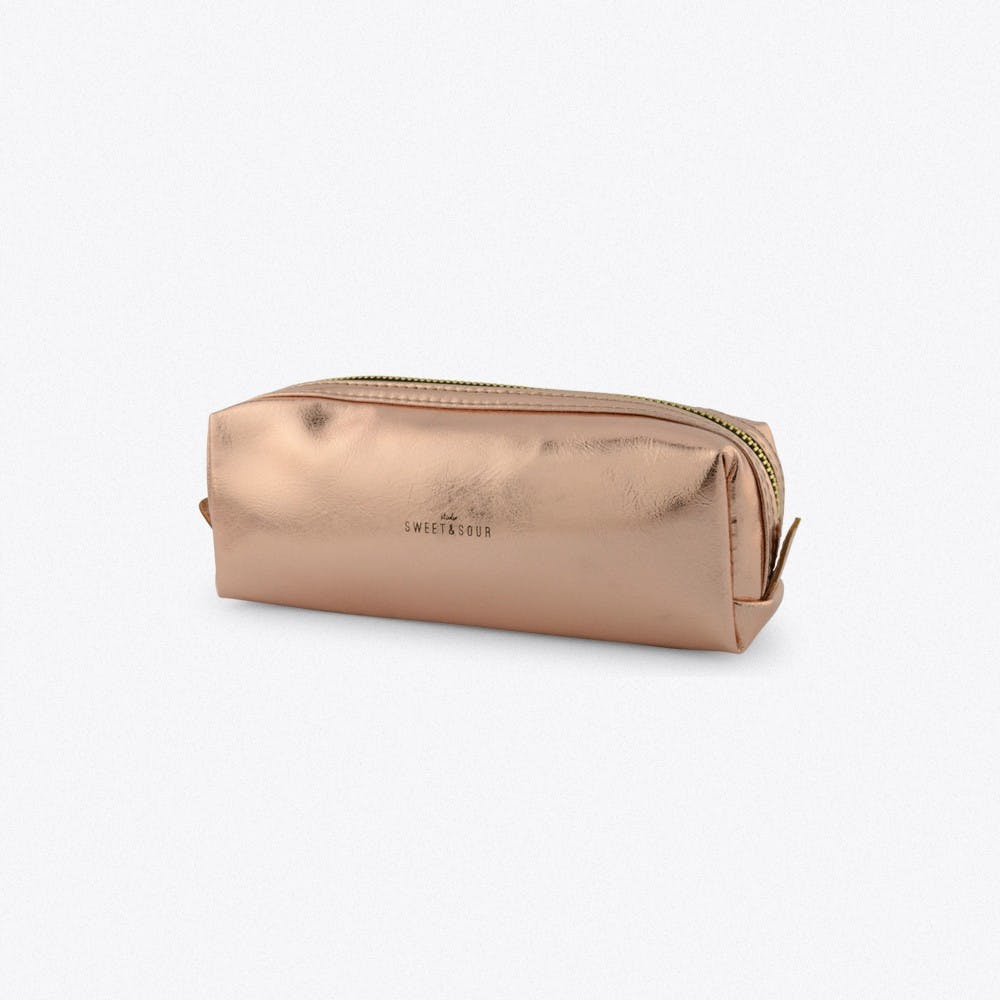Small Square Make-Up Bag In Copper