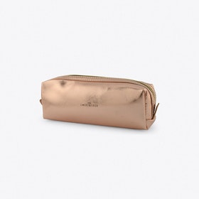 Small Square Make-Up Bag In Copper