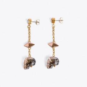 Skull Earrings in Rose