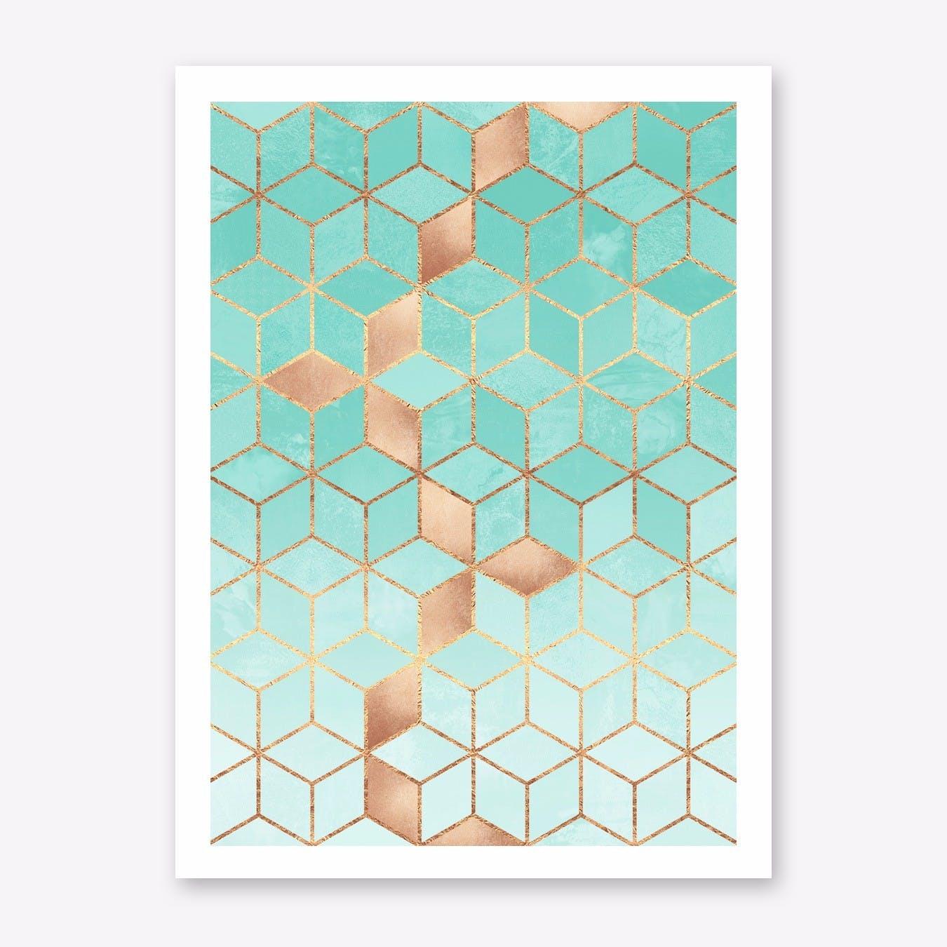 Soft Gradient Aquamarine Art Print