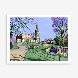 Clissold Park, Stoke Newington A3 Art Print
