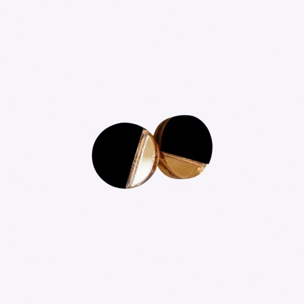 Inversion Earrings in Black
