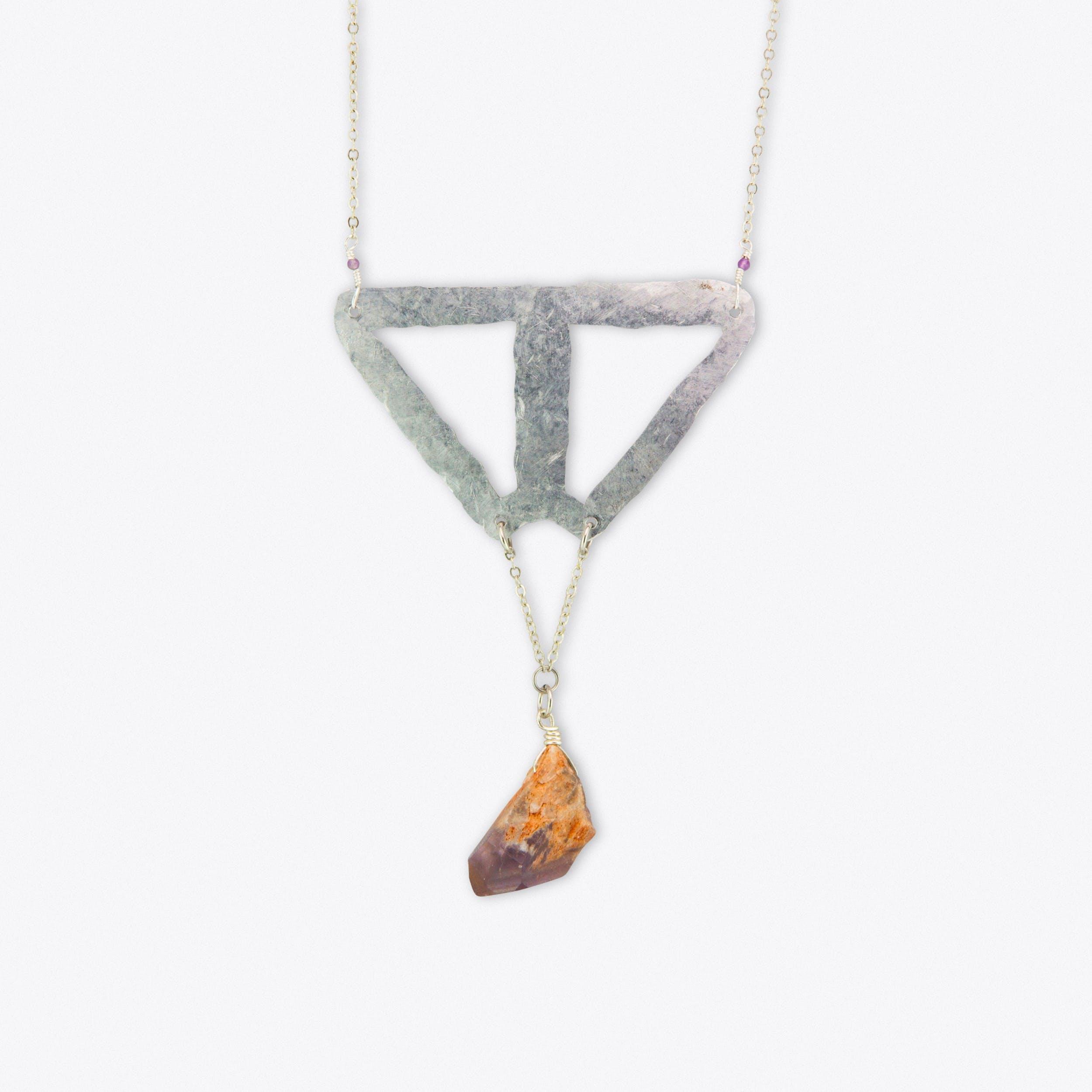 Triangle Pendulum Necklace