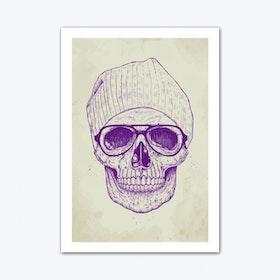 Cool Skull Art Print