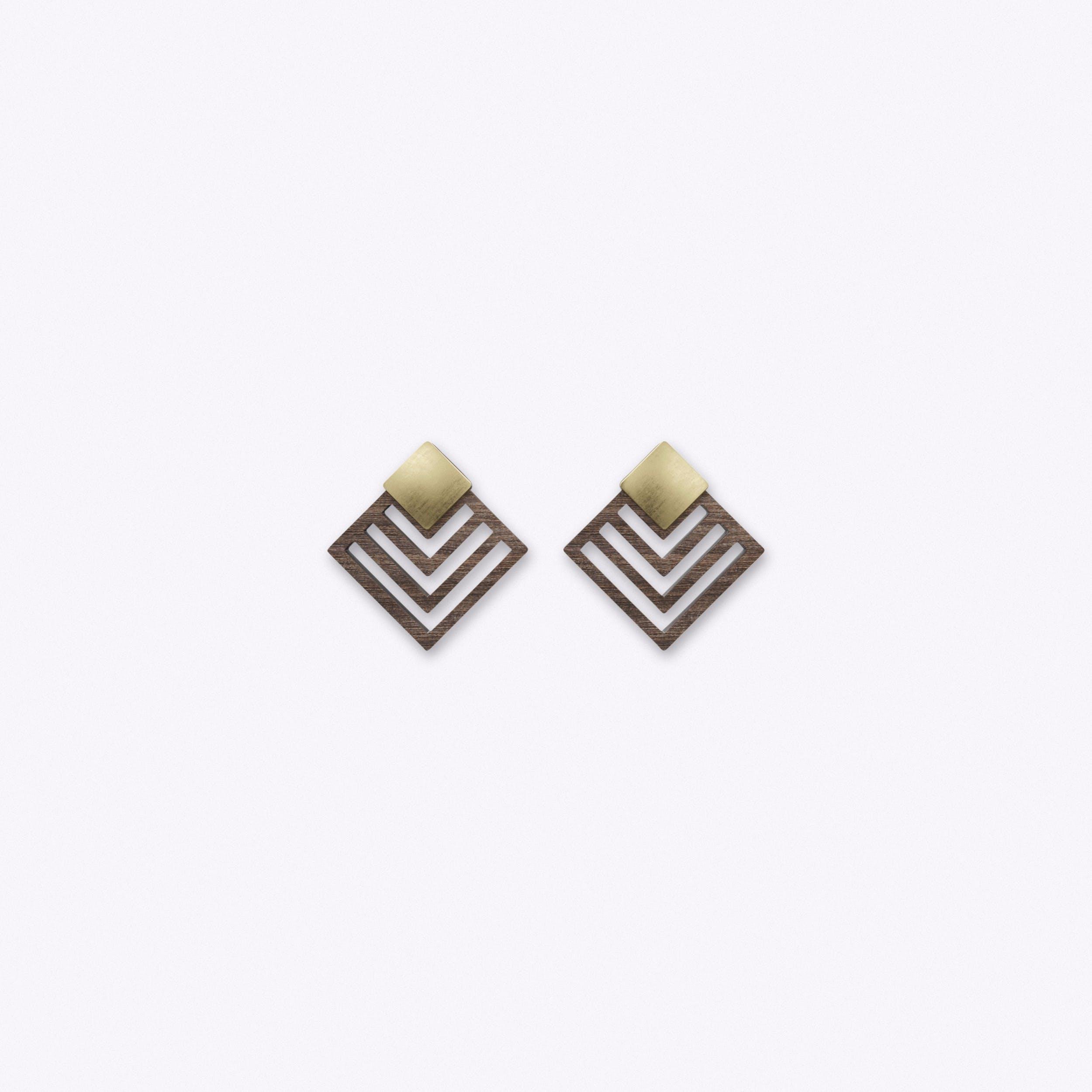 Aktiv Earrings in Dark Wood