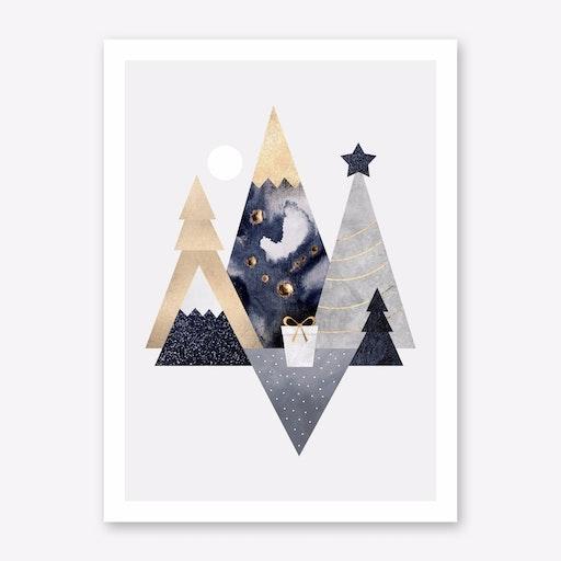Christmas Mountains Print