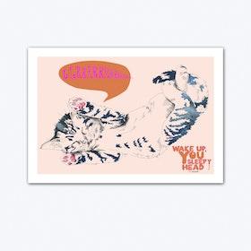Wake Up Tiger Art Print