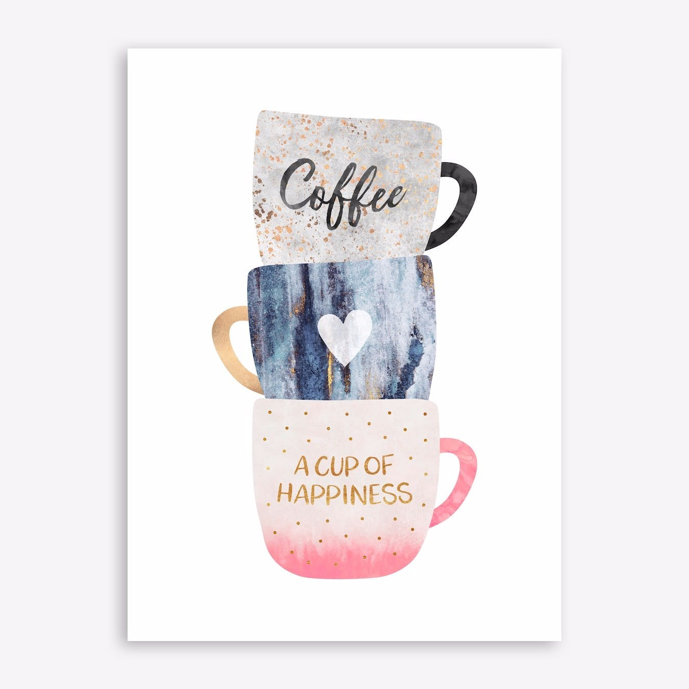 A Cup Of Happiness Print