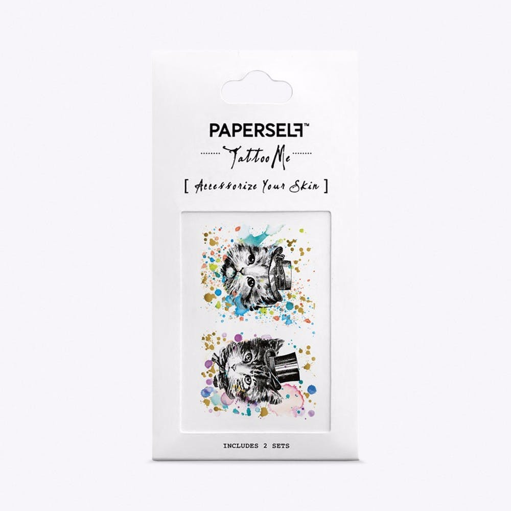 Kitten and Puppy Brother Temporary Tattoos