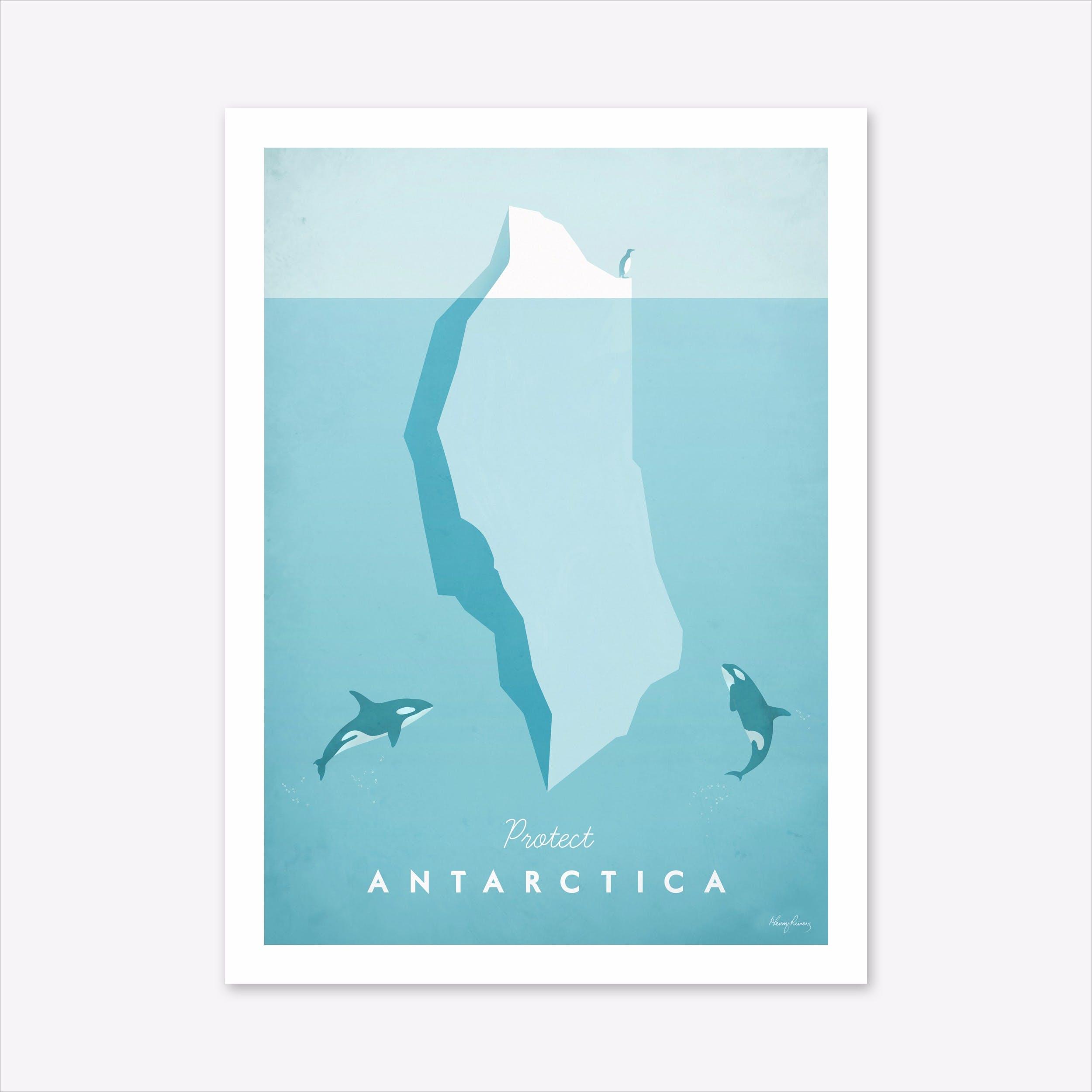 Visit Antarctica Art Print