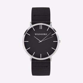 New Richmond Watch Black & Silver with Black Strap