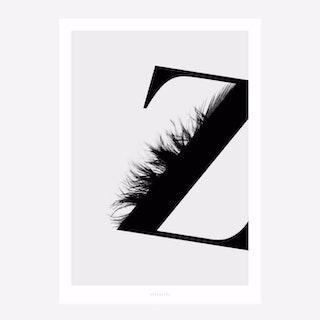 ABC Flying Letters 26 Art Print
