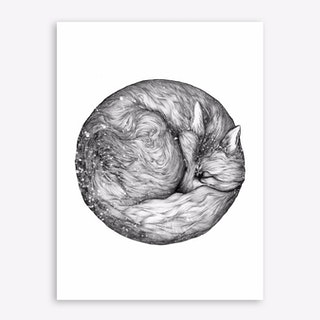The Infinite Fox Art Print