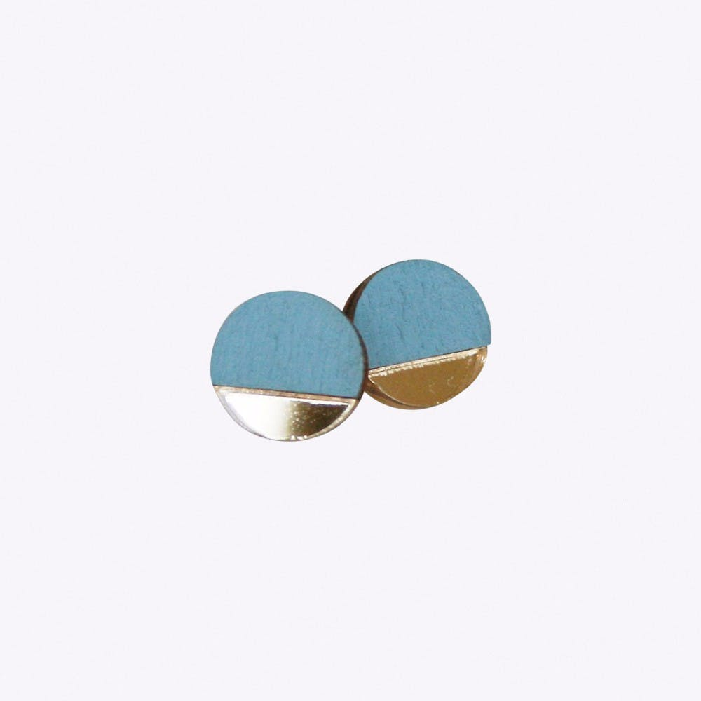 Inversion Earrings in Blue