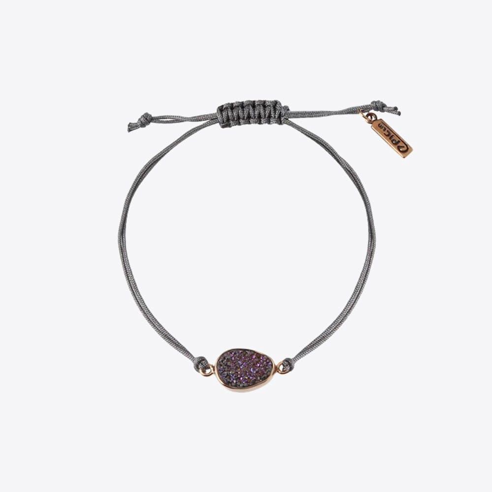 Rainbow Stone Dot Bracelet In Gold