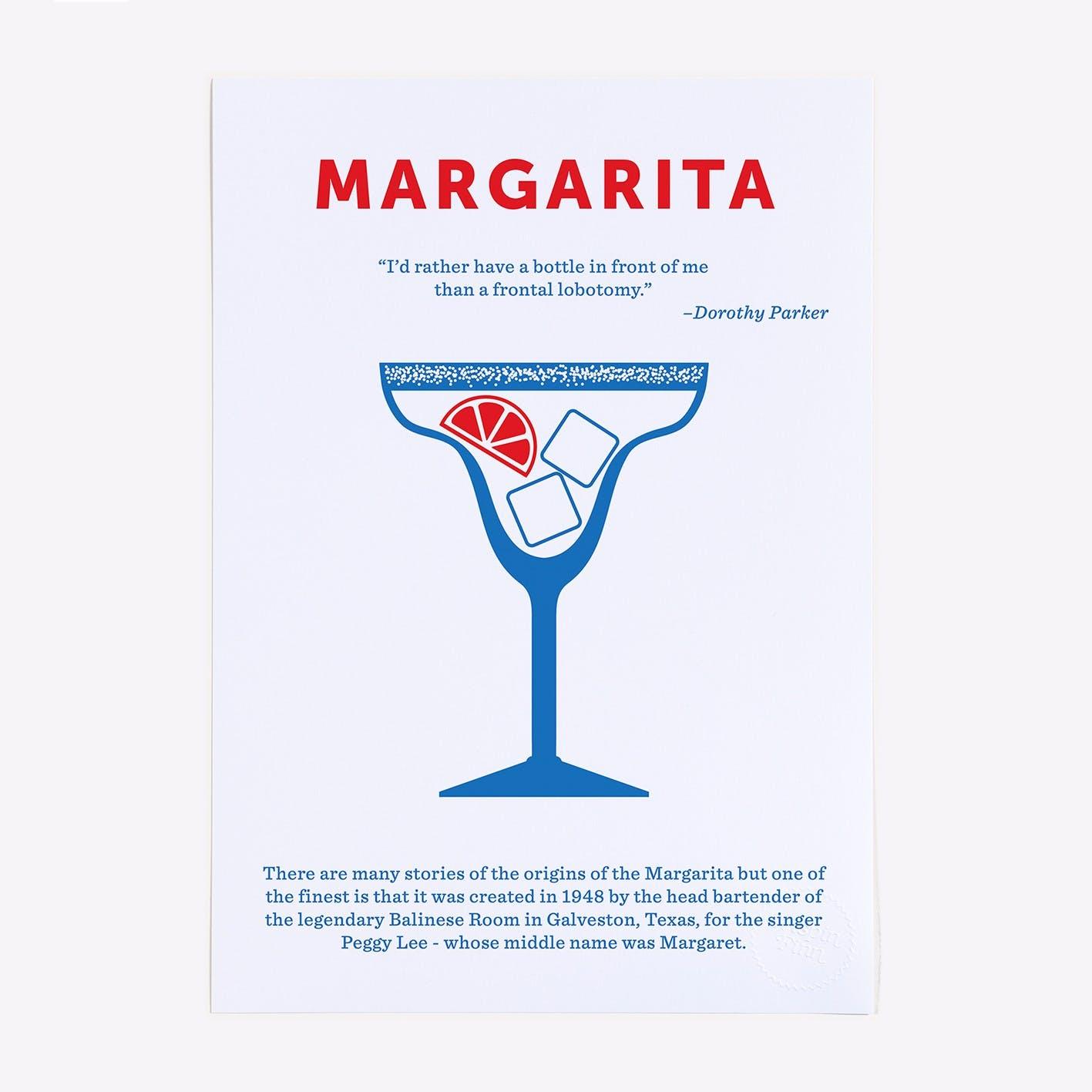 Margarita 2 Colour Screen Print