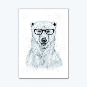 Geek Bear Art Print