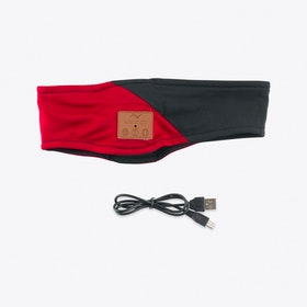 Bluetooth Audio Headband in Red & Black