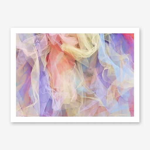 Pastel Tulle Art Print