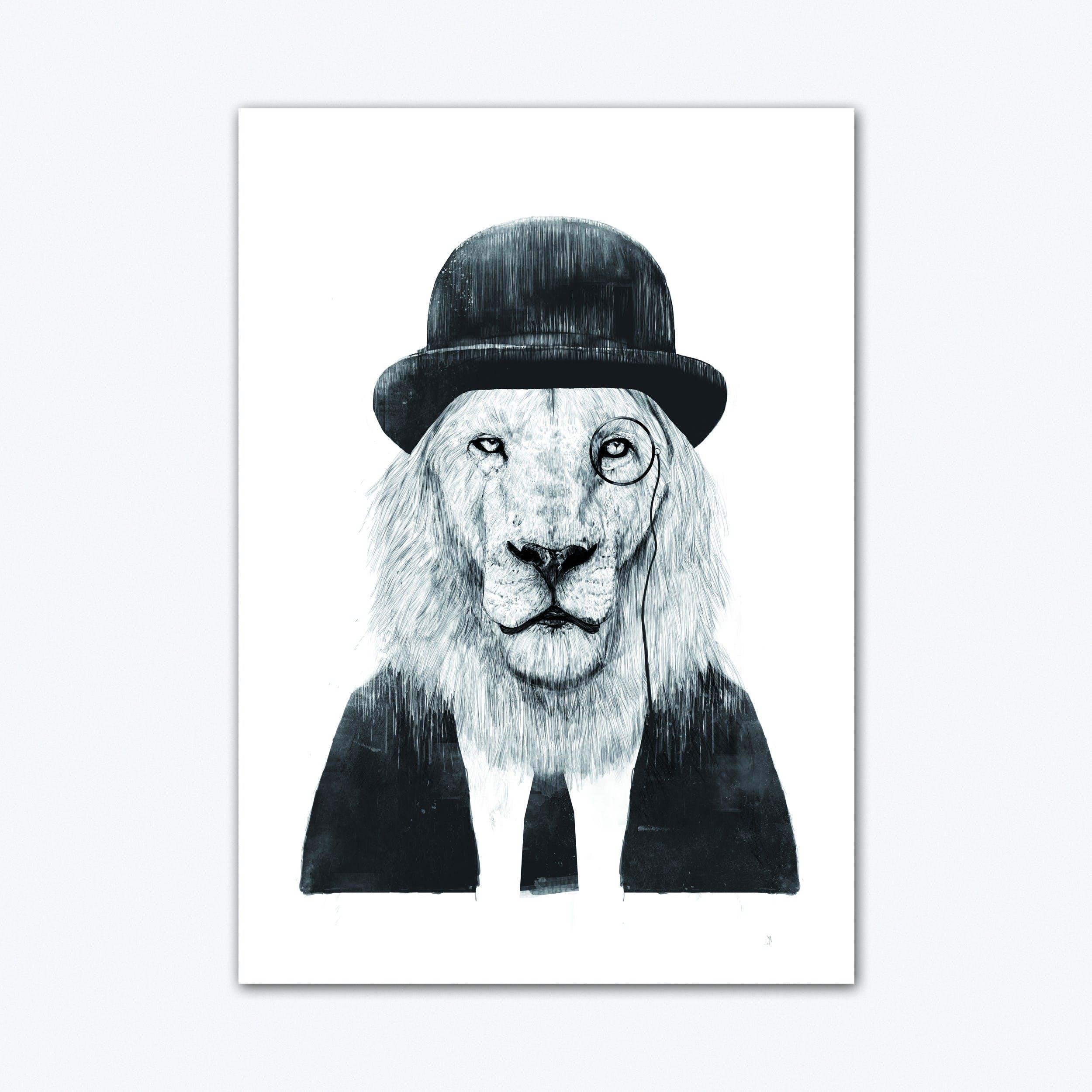 Sir Lion Art Print