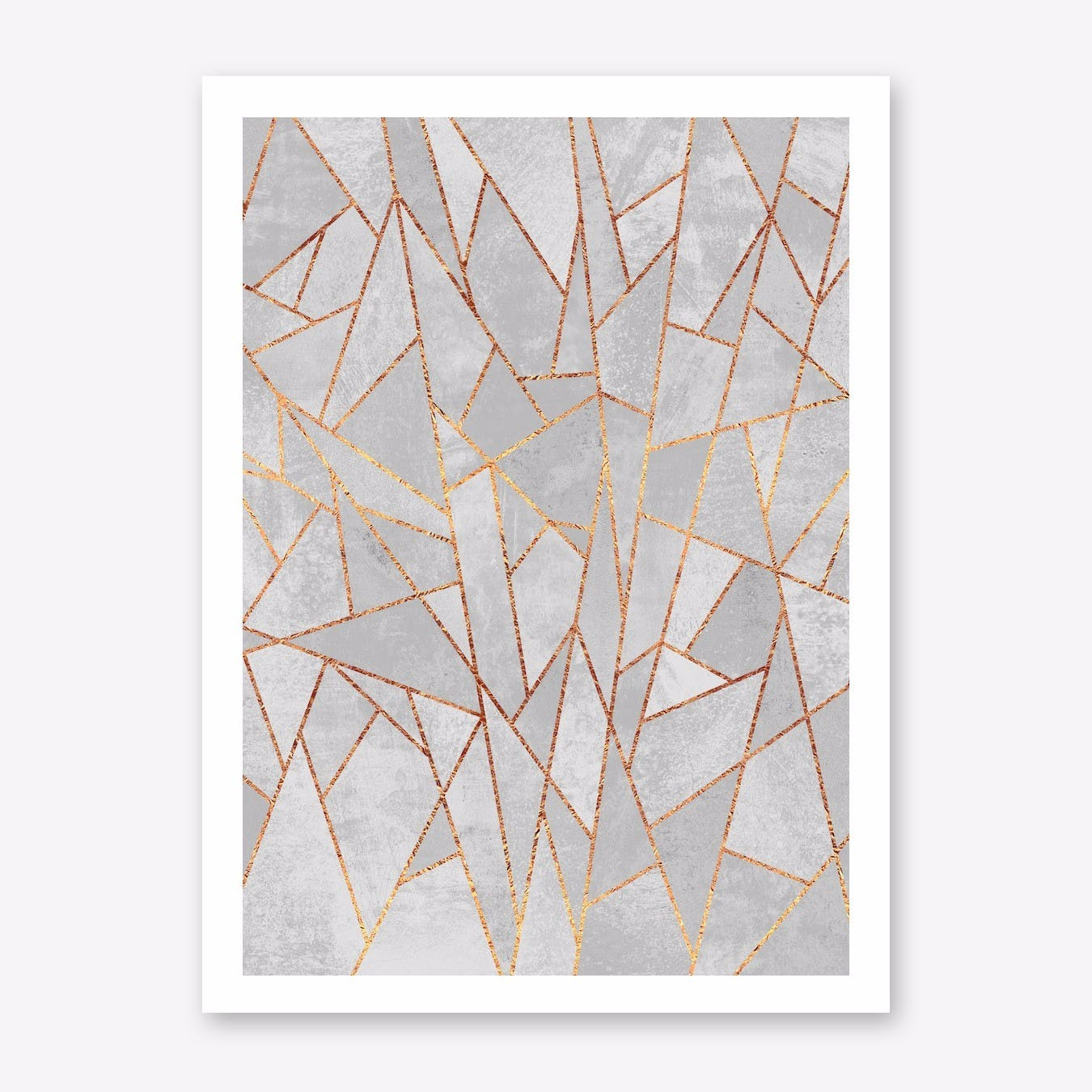 Shattered Concrete Art Print