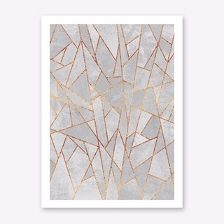 Shattered Concrete Art Print