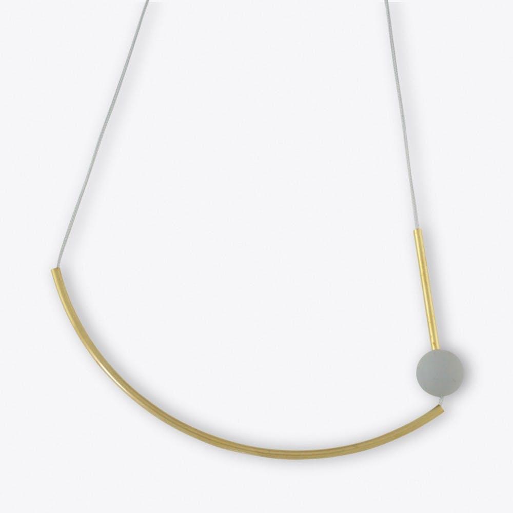 Forma Three Necklace Silver Grey