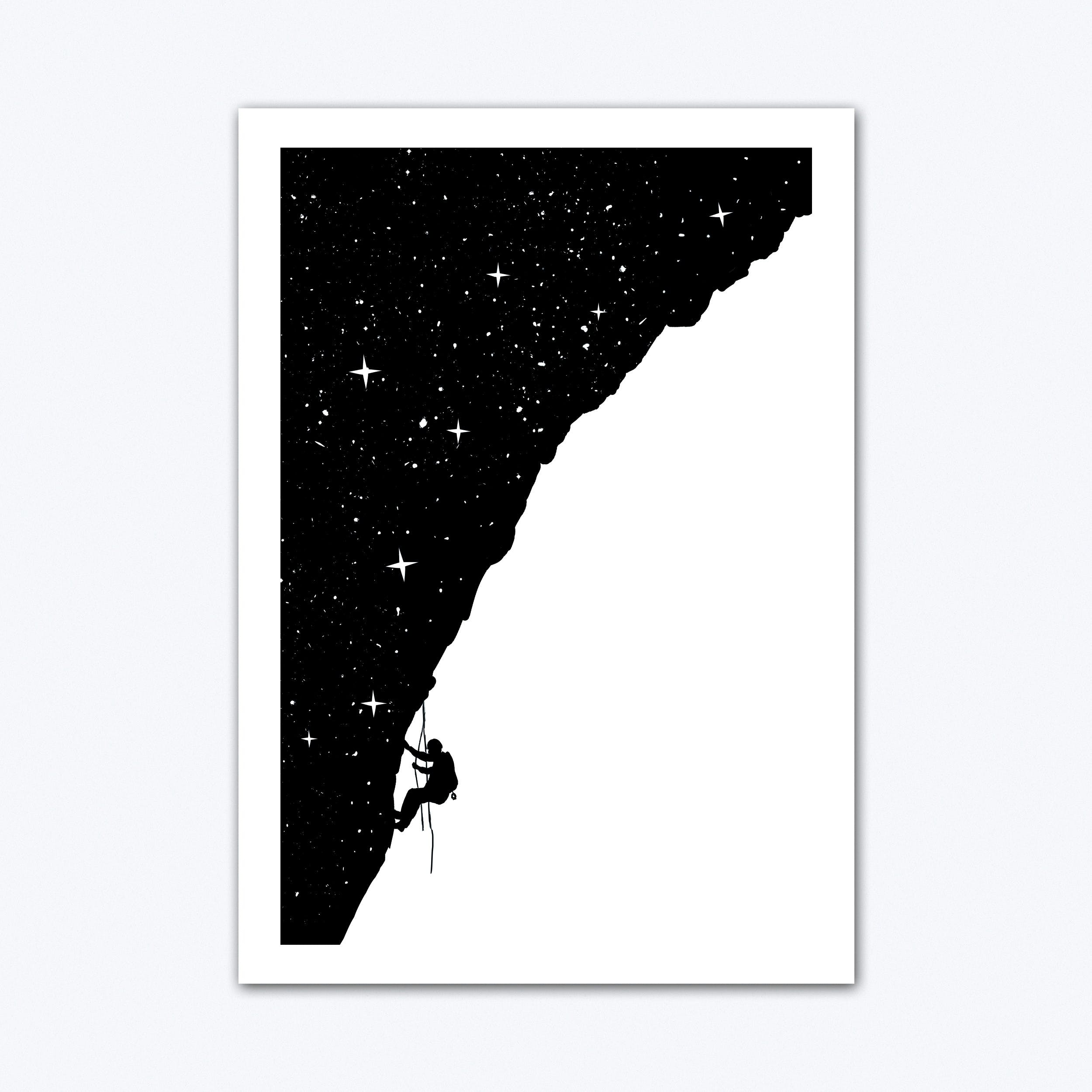 Nightclimbing Art Print