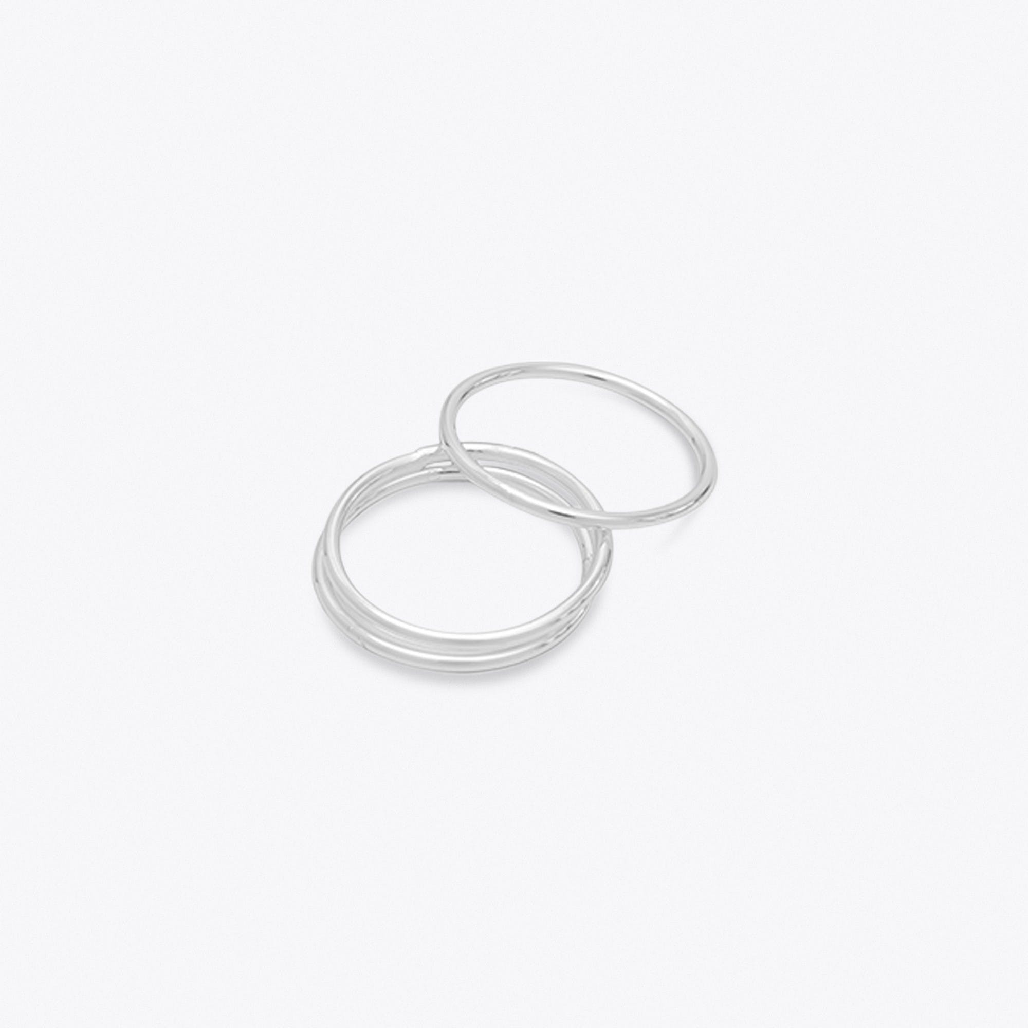 Thin Silver Stacking Rings (set of 3)