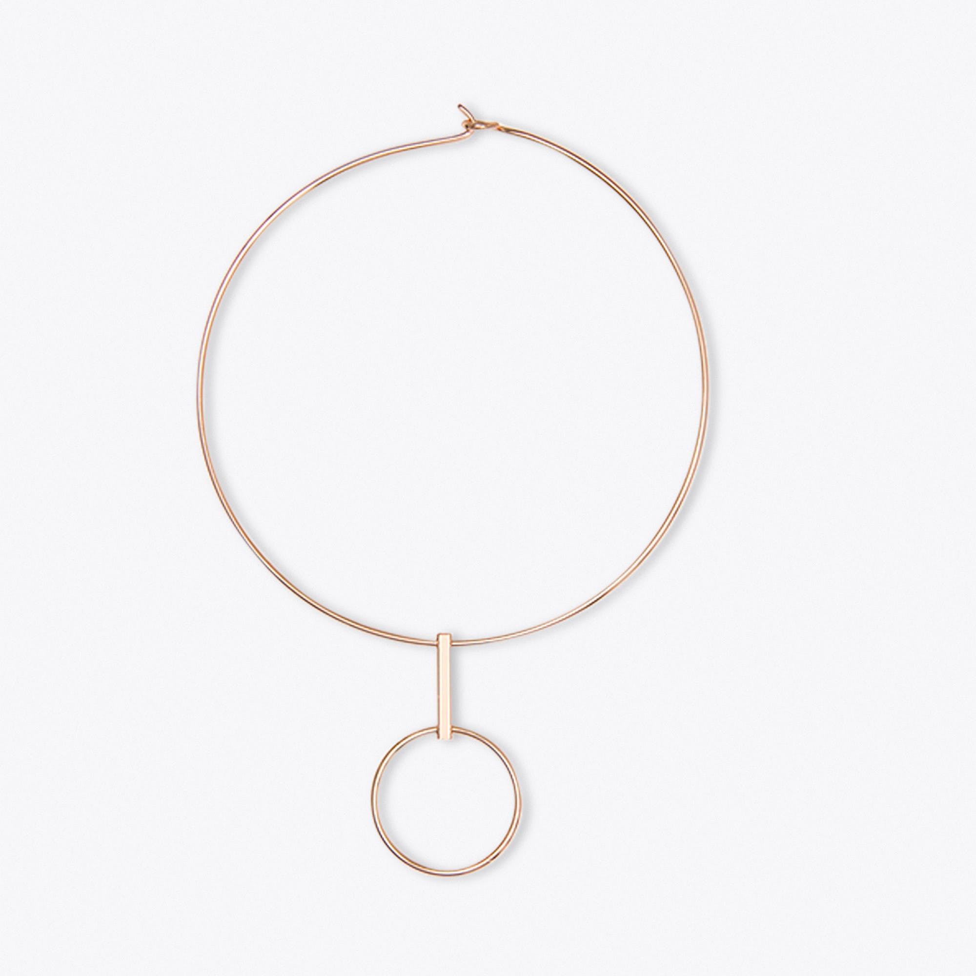 Gold Bold Circle Necklace